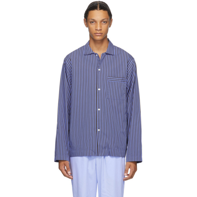 Photo: Tekla Blue Striped Pyjama Shirt