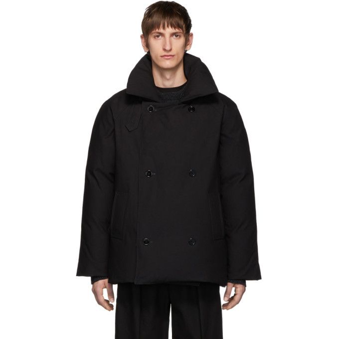 Photo: Raf Simons Black Down Double-Breasted Coat