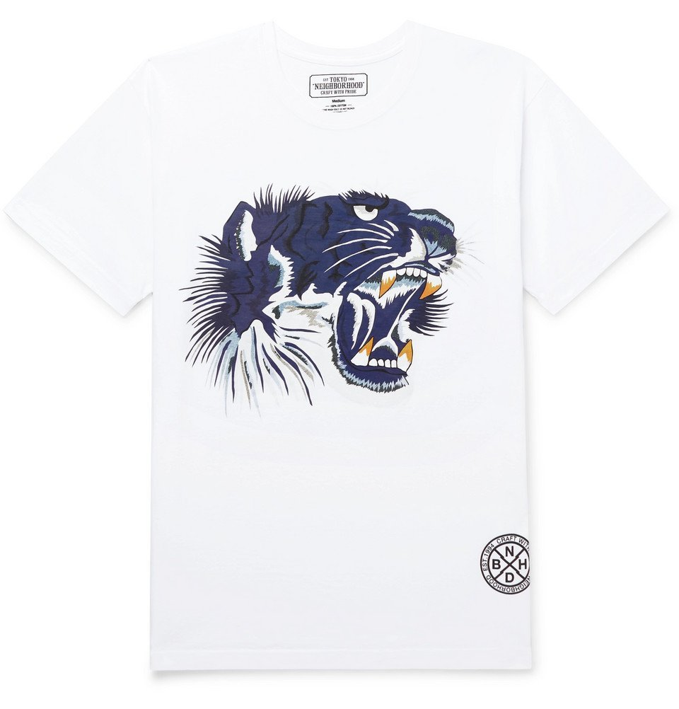 Photo: Neighborhood - Souvenir Printed Cotton-Jersey T-Shirt - White