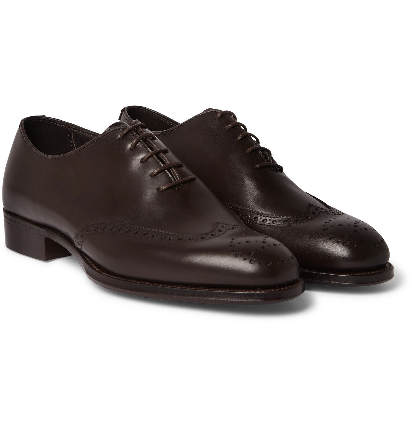 Photo: Kingsman - George Cleverley Leather Brogues - Brown