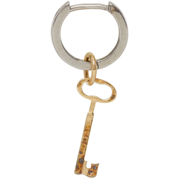 Photo: Maison Margiela Gold and Silver Key Single Earring