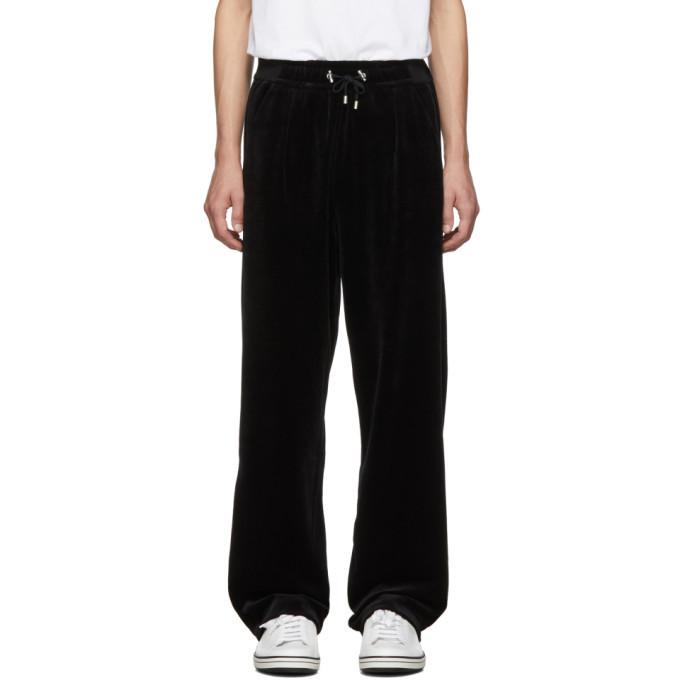 Photo: Balmain Black Velvet Lounge Pants