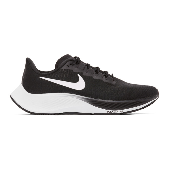 Photo: Nike Black and White Air Zoom Pegasus 37 Sneakers