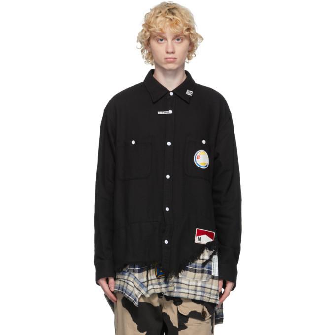 Photo: Miharayasuhiro Black Layered Cutoff Shirt