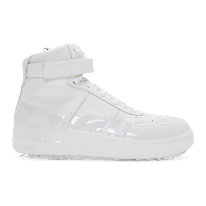 Photo: 424 Off-White Dipped High-Top Sneakers