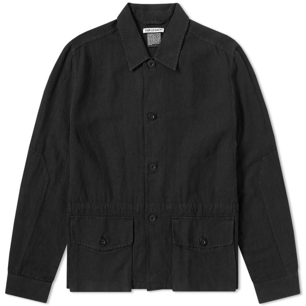 Photo: Our Legacy Puff Pocket Shirt Jacket Black