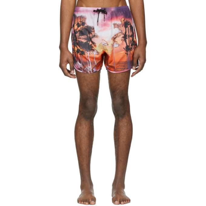 Photo: Neil Barrett Pink Palm Swim Shorts