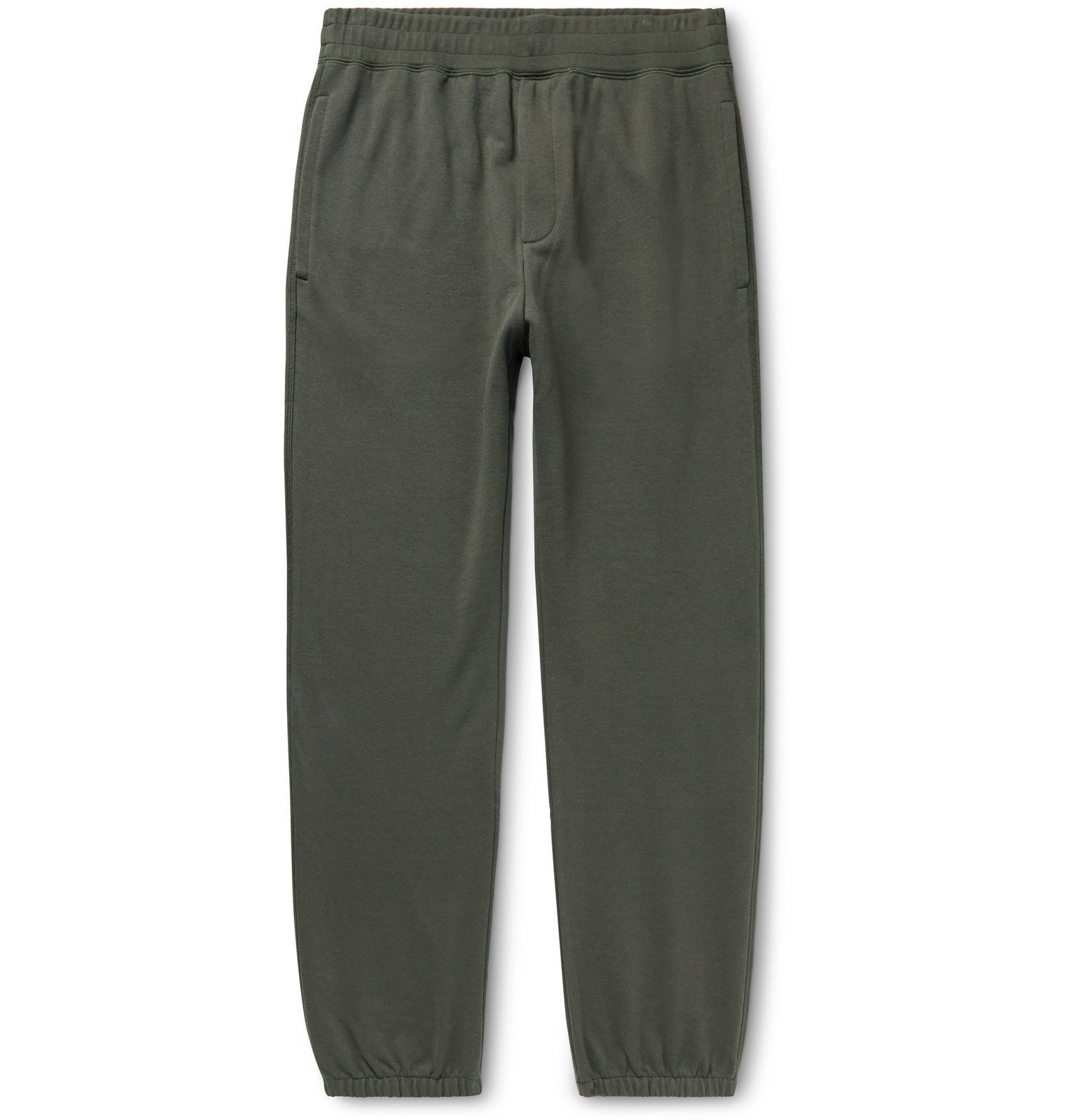 Photo: The Row - Olin Tapered Cotton-Jersey Sweatpants - Gray