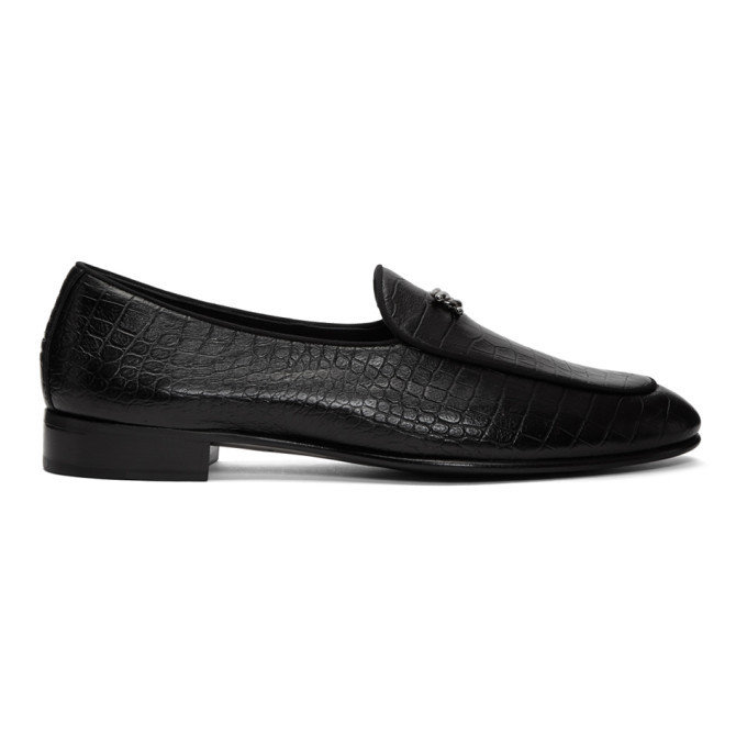 Photo: Giuseppe Zanotti Black Darwin Loafers