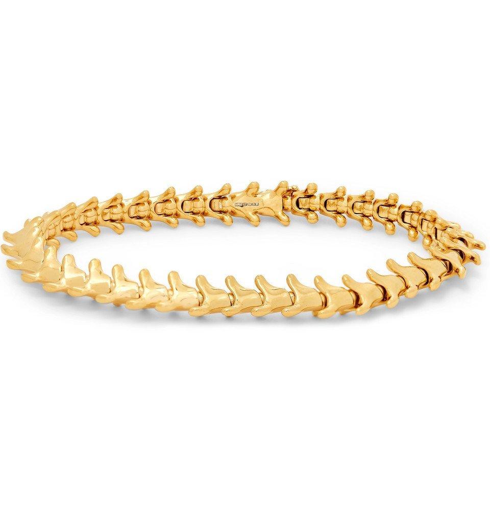 Photo: Shaun Leane - Serpent's Trace Slim Gold-Plated Bracelet - Gold