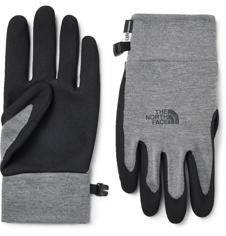 Photo: The North Face - Etip Grip and Tech-Fleece Gloves - Men - Gray