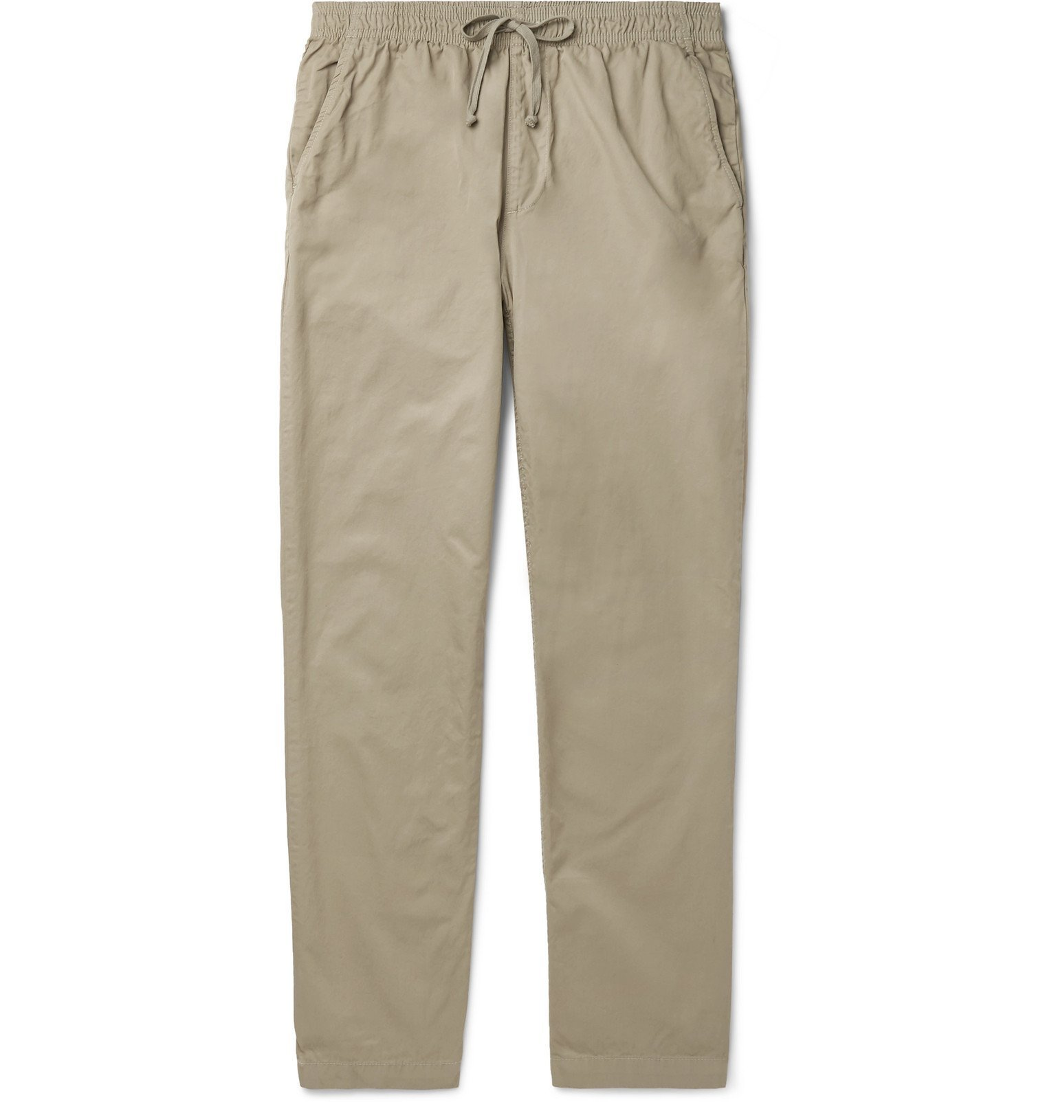 Photo: Save Khaki United - Easy Slim-Fit Cotton-Twill Drawstring Chinos - Green