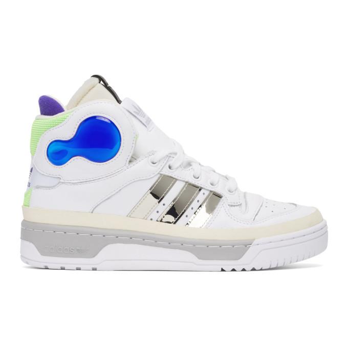 Photo: Sankuanz White Adidas Edition Rivalry Hi Sneakers