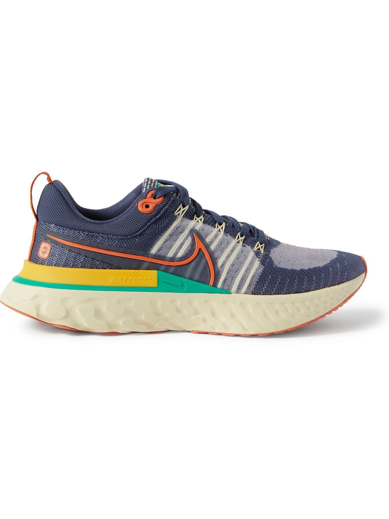Photo: Nike Running - React Infinity Run 2 Flyknit Sneakers - Blue