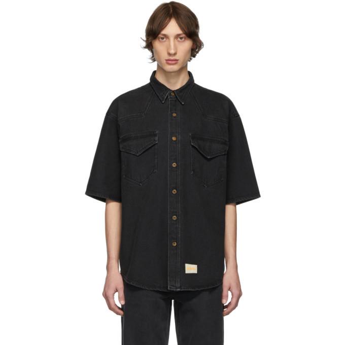Photo: Nanushka Black Denim Nelan Shirt
