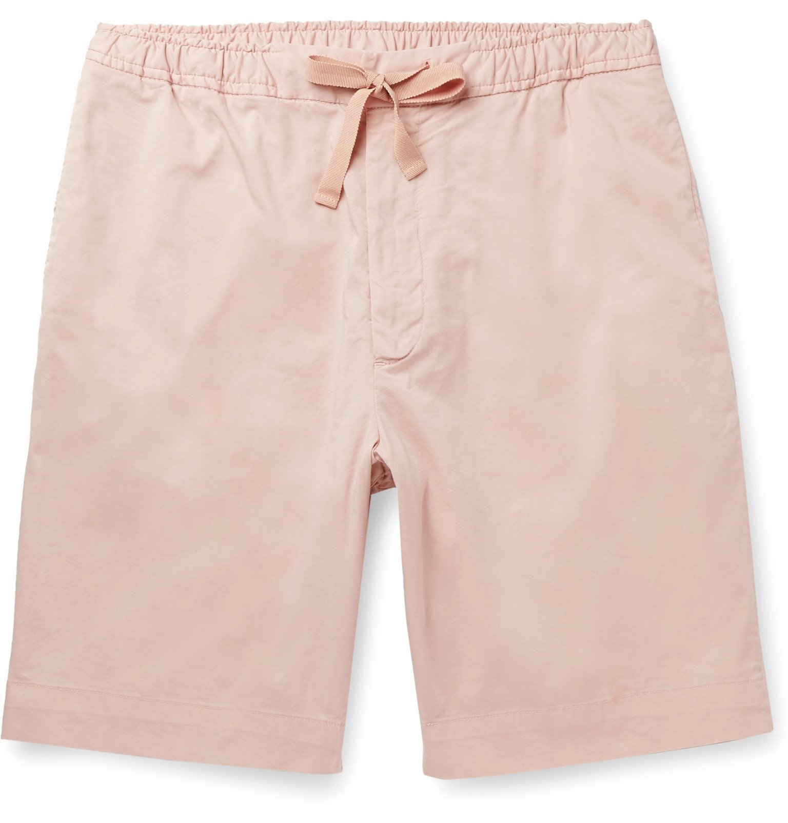 Photo: Officine Generale - Phil Garment-Dyed Stretch-Cotton Drawstring Shorts - Pink