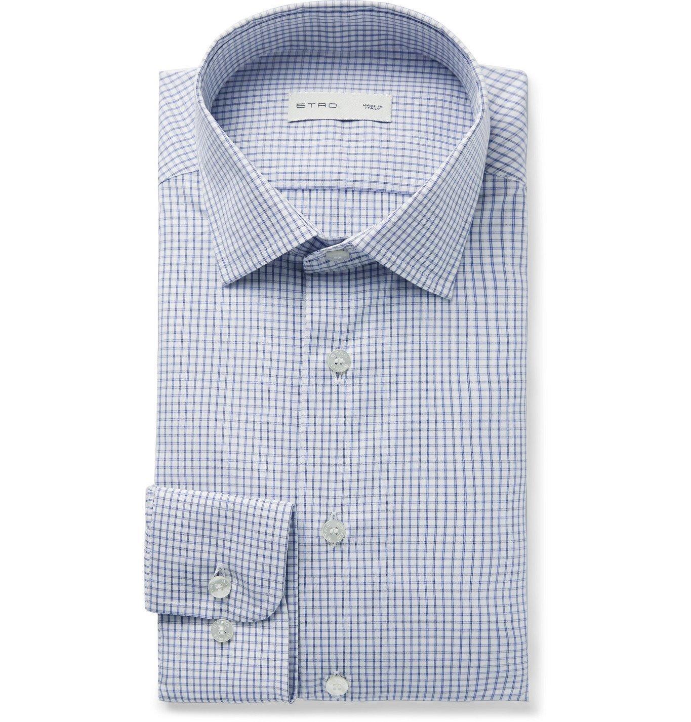 Photo: Etro - Checked Cotton-Voile Shirt - White