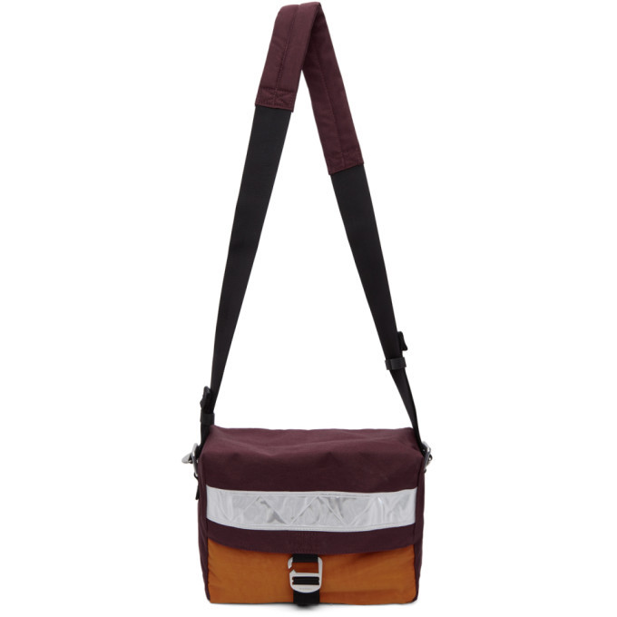 Photo: Acne Studios Burgundy Bla Konst Contrast Bag