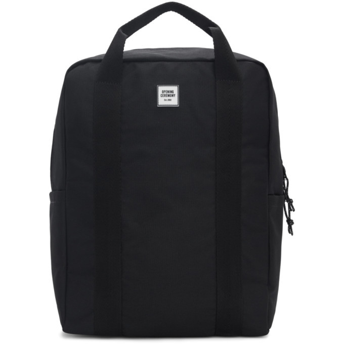 Photo: Opening Ceremony Black Logo Tote Backpack