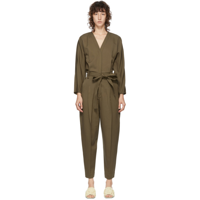 Photo: 3.1 Phillip Lim Green Wool Belted Jumpsuit