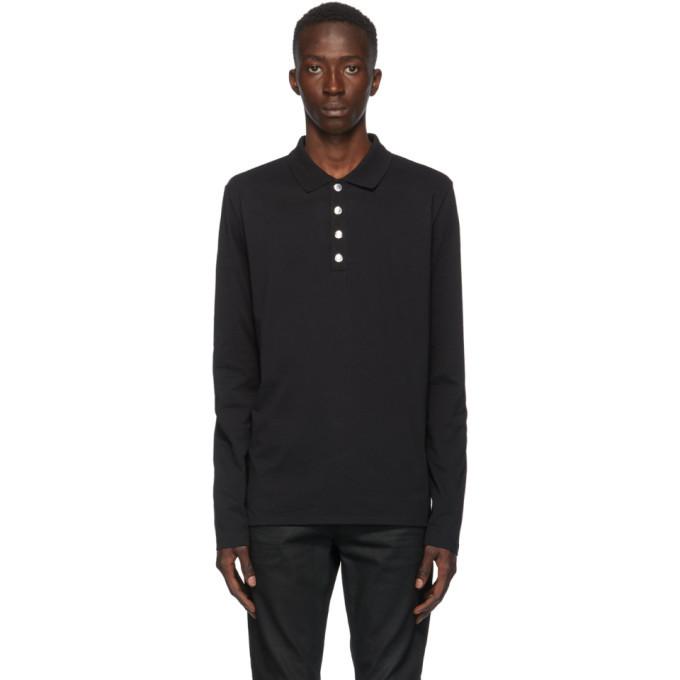 Photo: Balmain Black Long Sleeve Polo