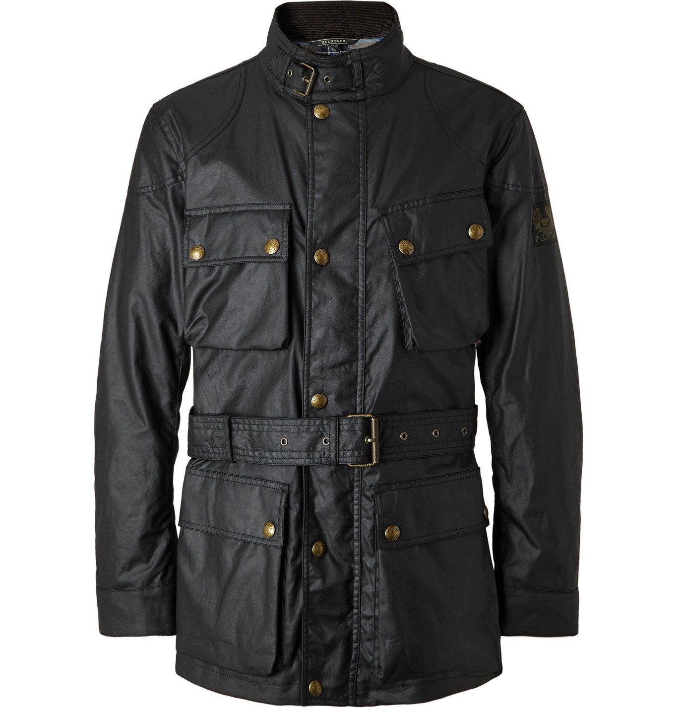Photo: Belstaff - Trialmaster Belted Waxed-Cotton Jacket - Black