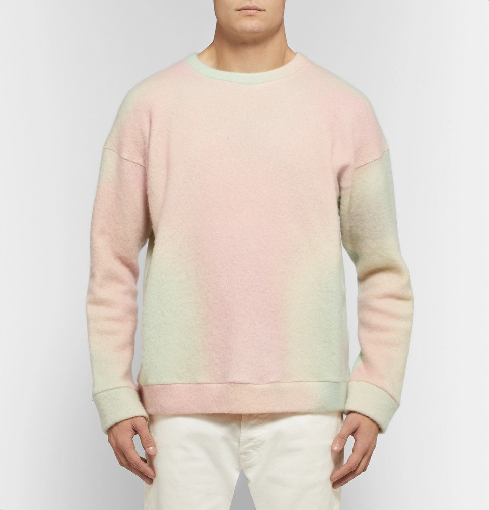 The Elder Statesman - Tie-Dyed Cashmere-Blend Sweater - Pink