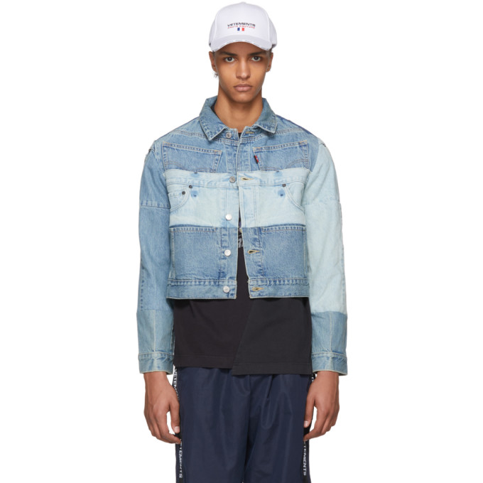 Photo: Vetements Blue Levis Edition Reworked Denim Jacket