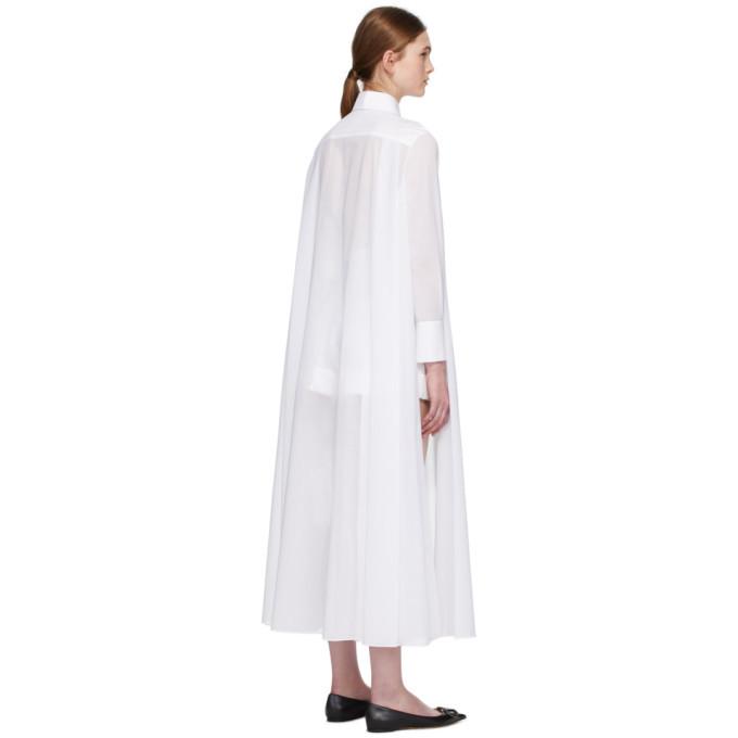 Valentino White Sheer Shirt Dress