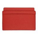 Smythson Red Panama Card Holder