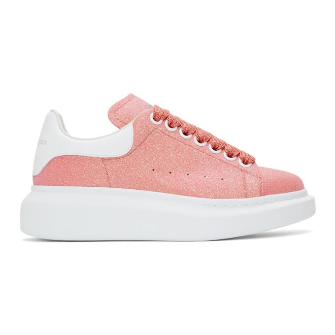 Photo: Alexander McQueen Pink Glitter Oversized Sneakers
