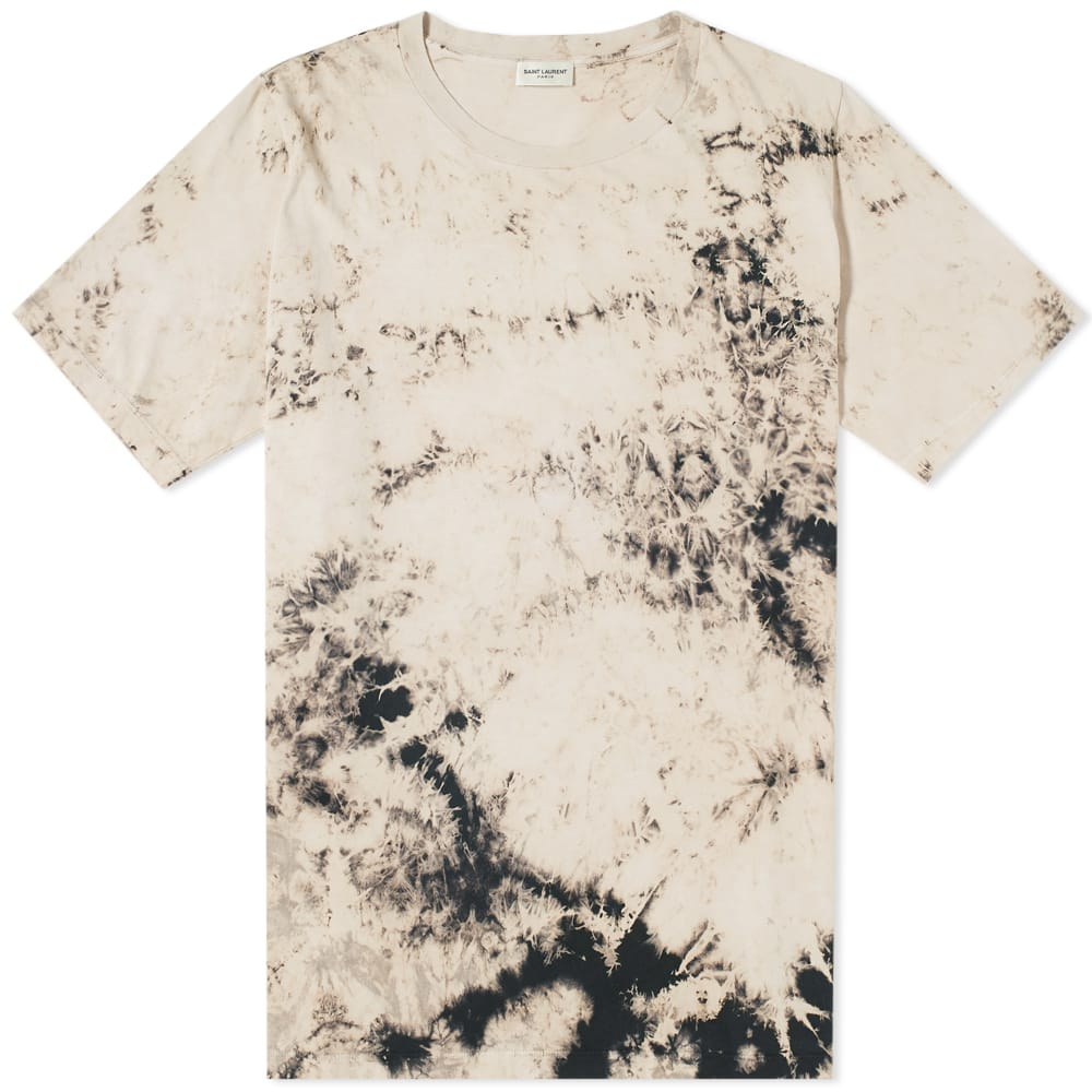 Photo: Saint Laurent Tie Dye Tee Neutrals