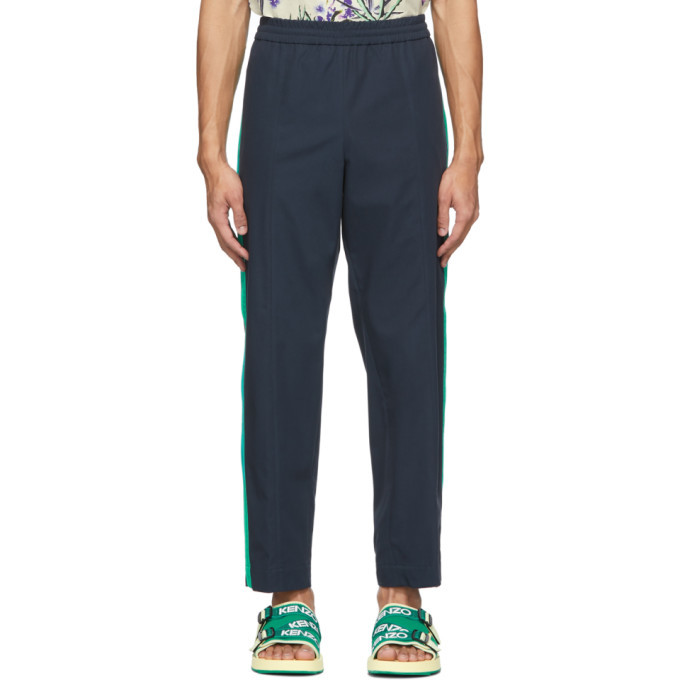 Photo: Kenzo Navy Canvas Tapered Lounge Pants