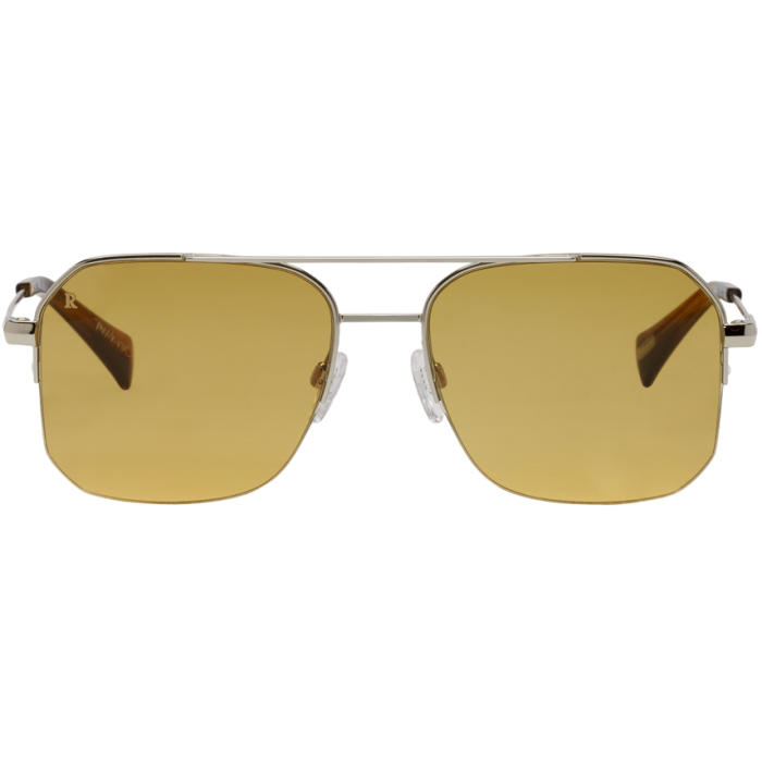 Photo: RAEN Silver and Tan Munroe Sunglasses