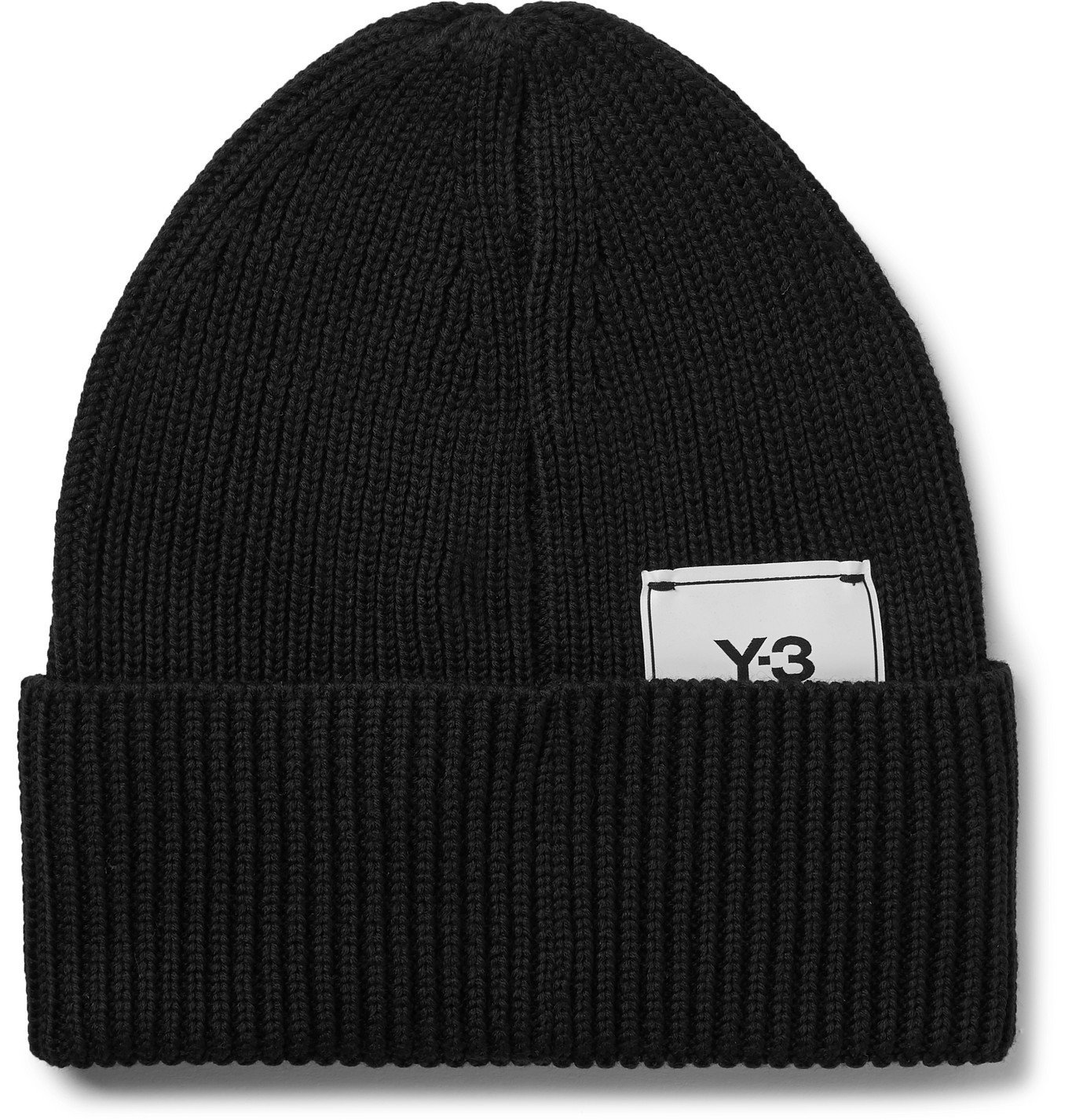 Photo: Y-3 - Logo-Appliquéd Ribbed Wool Beanie - Black