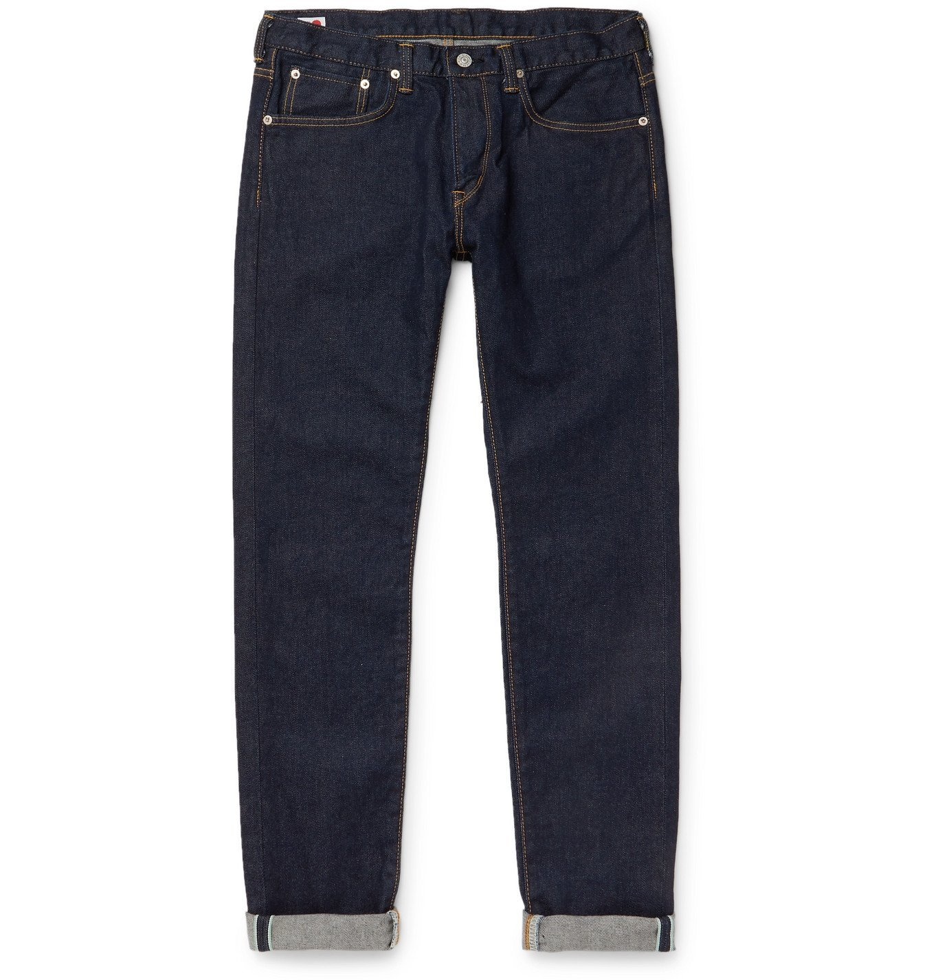 Photo: EDWIN - Kaihara Slim-Fit Selvedge Stretch-Denim Jeans - Blue