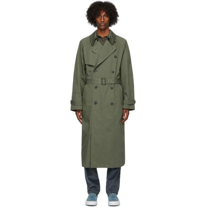 Photo: Kenzo Green Cotton Trench Coat