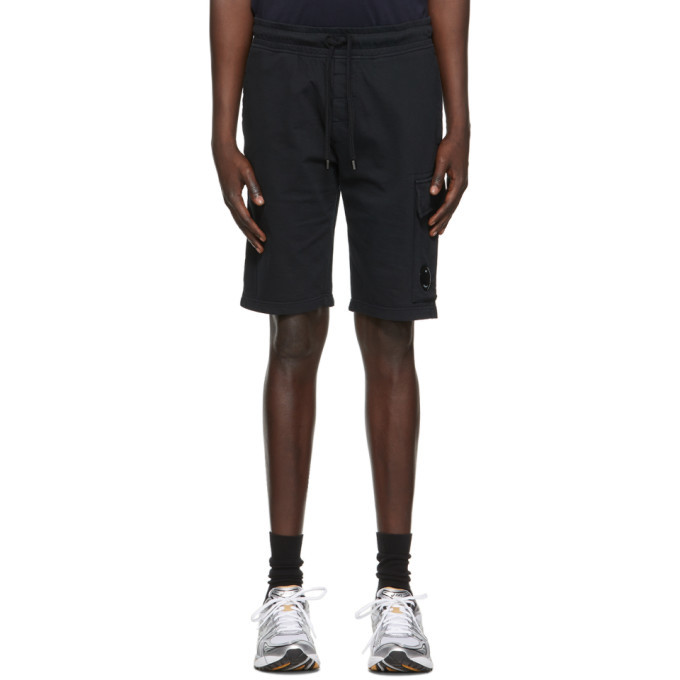 Photo: C.P. Company Black Light Jersey Garment Dyed Cargo Shorts