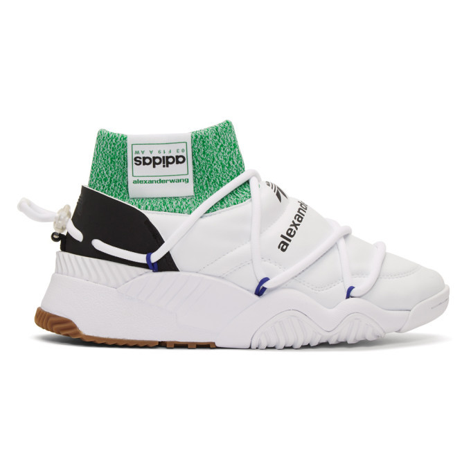 adidas Originals by Alexander Wang White Puff High Top Sneakers