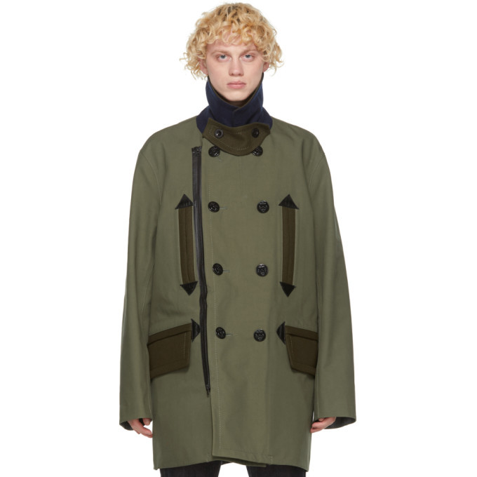 Sacai Khaki Oxford Coat
