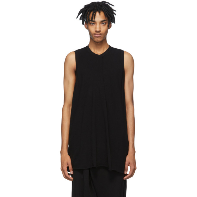 Photo: Julius Black Rib Knit Tank Top