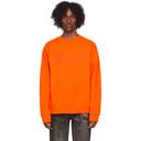 Martine Rose Orange Classic Crew Sweatshirt