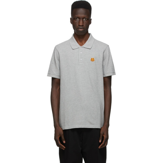 Photo: Kenzo Grey Tiger Crest Polo