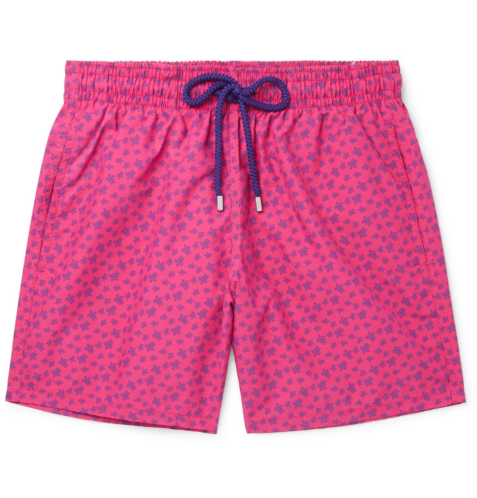 Photo: Vilebrequin - Moorea Mid-Length Printed Swim Shorts - Pink