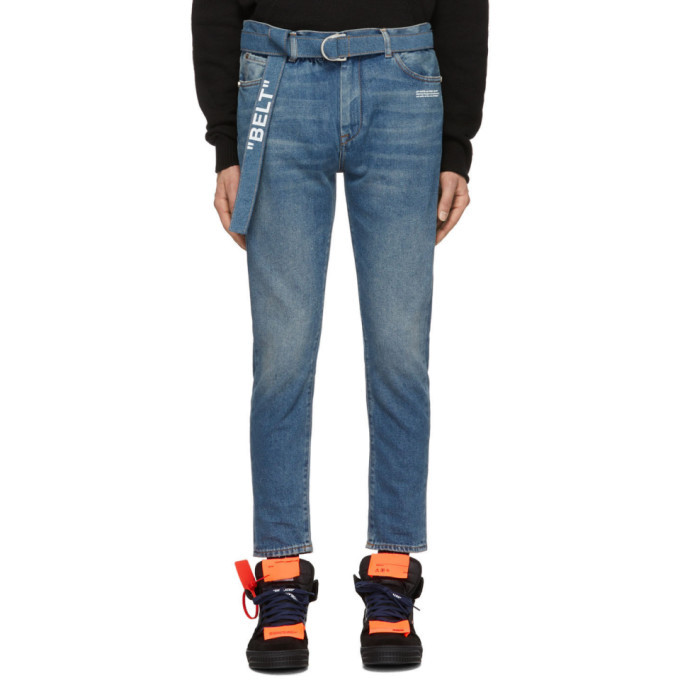 Photo: Off-White Blue Slim Low Crotch Jeans