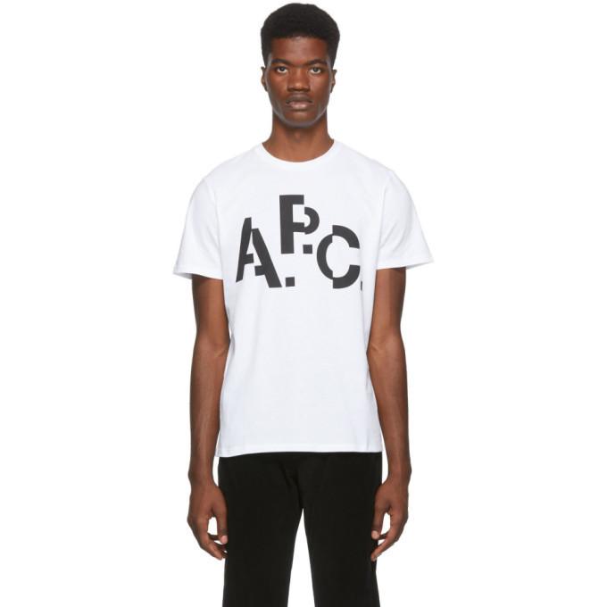 Photo: A.P.C. White Decale T-Shirt