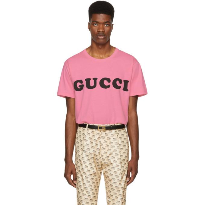 Photo: Gucci Pink Logo T-Shirt