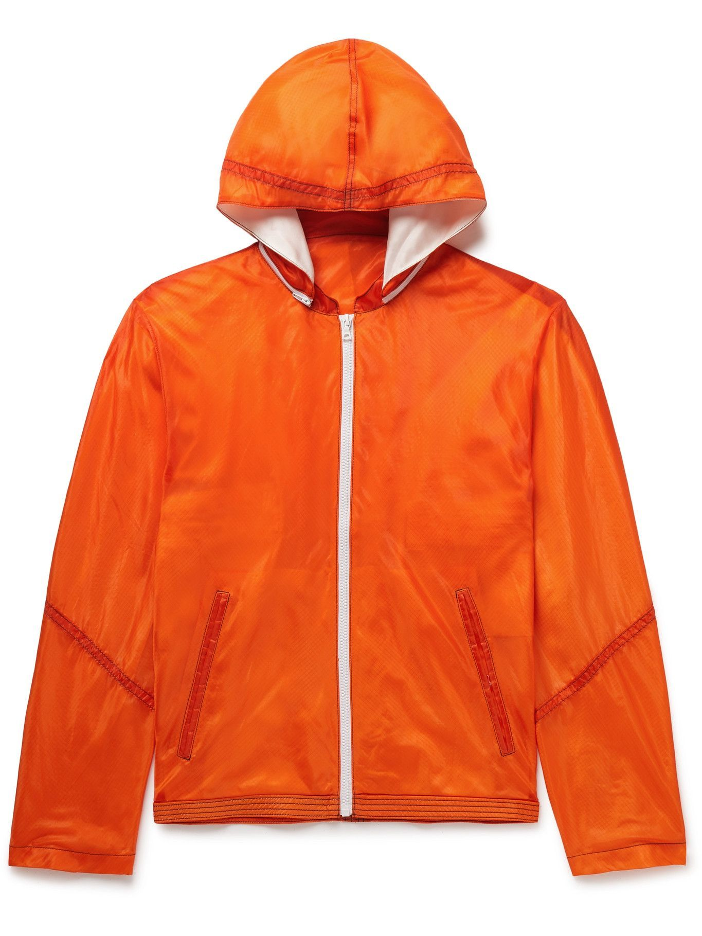 Photo: Double Eleven - Panelled Nylon-Ripstop Hooded Jacket - Orange