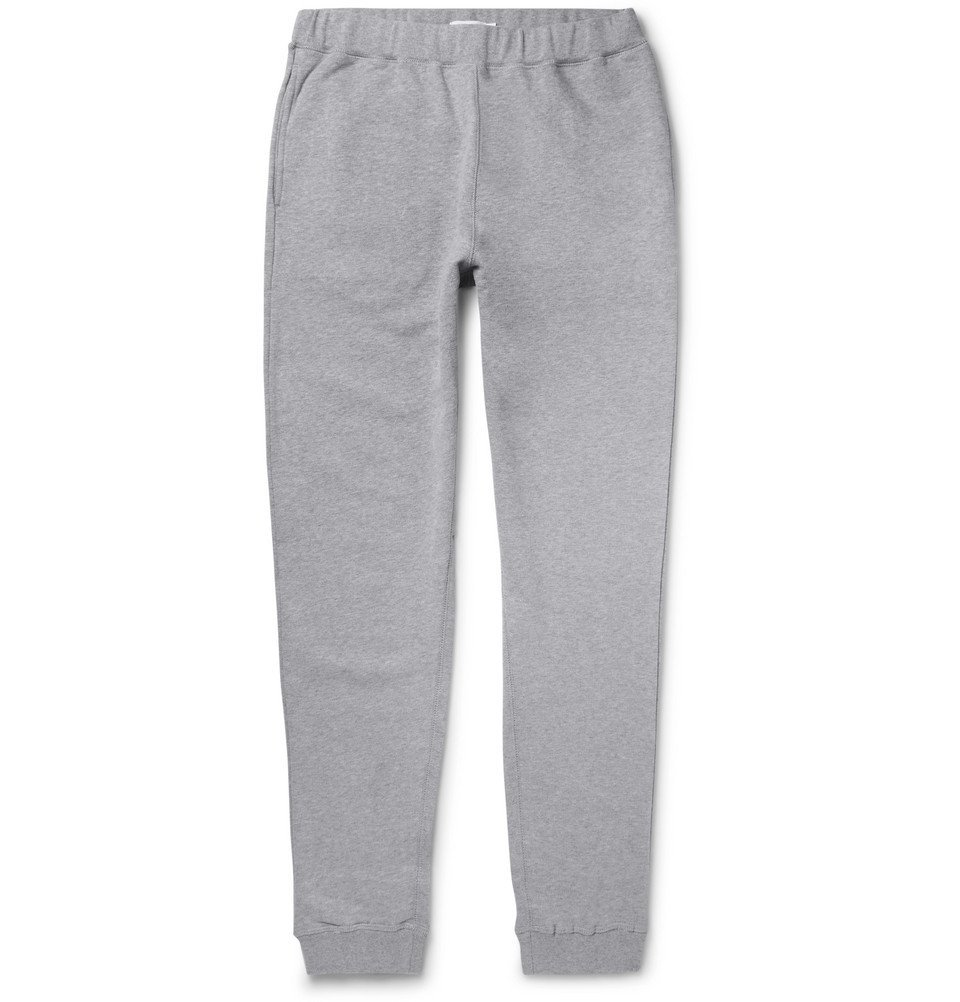 Photo: Sunspel - Tapered Brushed Loopback Cotton-Jersey Sweatpants - Men - Gray