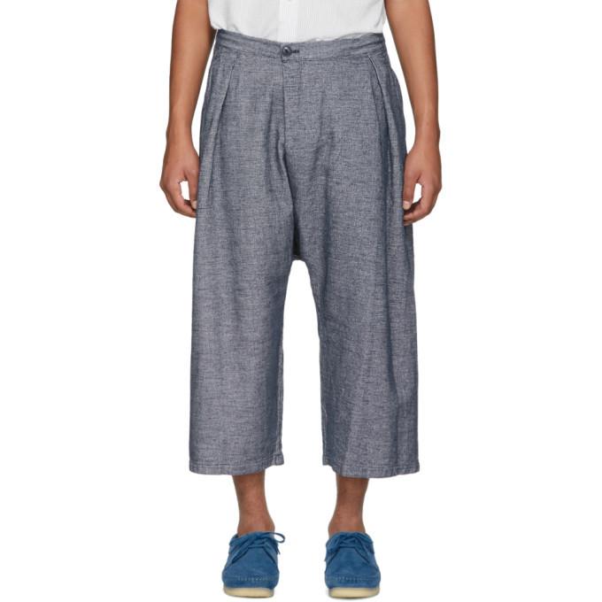 Photo: Blue Blue Japan Blue Linen Mesh Wide Trousers